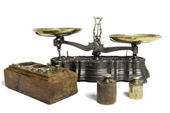 Old Scale With Weight Measures Royalty Free Stock Photo