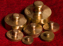 Old scale weights Royalty Free Stock Photos