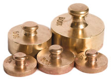 Old scale weights Stock Photo