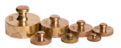 Old scale weights Stock Image