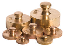 Old scale weights Stock Photography