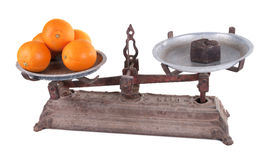 Old scale. With white background Stock Images