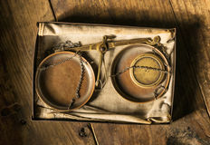 Old scales from aerial perspective Stock Photography