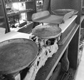 Old scales, exposed inside the museum of Minucciano, village of Garfagnana stock image
