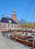 Old Scales and Town Hall,Leer,East Frisia,Germany. Old Scales and Town Hall in Leer,East Frisia,North Sea,lower saxony,Germany Stock Photography