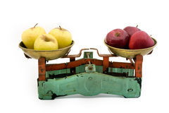 Old scales with yellow and red Royalty Free Stock Photo