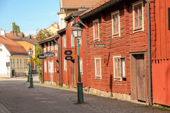 Old scandinavian buildings. Linkoping. Sweden Royalty Free Stock Image