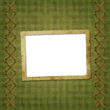 Old scarred photoframe Royalty Free Stock Images