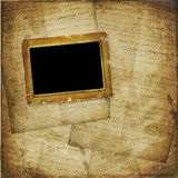 Old  scarred photoframe Stock Photo