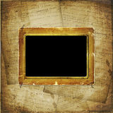 Old  scarred photoframe Stock Images