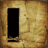 Old scarred photoframe on the abstract background Stock Images