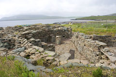 Old Scatness ruins, Shetland Stock Image