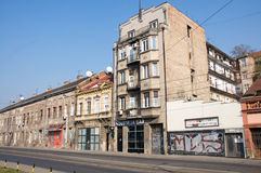 Old, scenic quarter Savamala in Belgrade Stock Photos