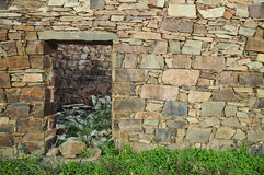 Old schist home facade wall Stock Photography