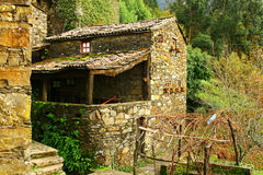 Old schist house Stock Photography