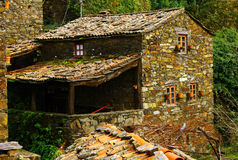 Old schist house Stock Photos