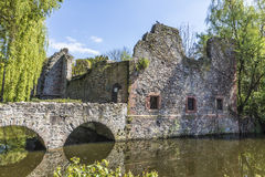 Old Schoental ruin at a small island Royalty Free Stock Photo