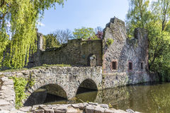 Old Schoental ruin at a small island Royalty Free Stock Photos
