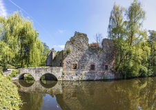 Old Schoental ruin at a small island Stock Photography