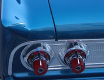 Old School. Classic old fashioned tail lights on antique automobile royalty free stock photos