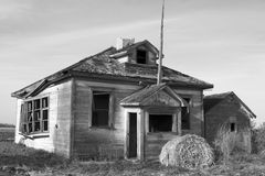 Old school. An old school house in Giroux, Manitoba, Canada stock image