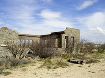 Old School. Driving down I-10 in Texas, I saw these ruins sitting off the freeway like some sort of ancient temple in the middle of nowhere. An engraving above Stock Images