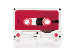 Old-school audio cassette isolated on white Stock Photography