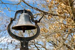 Old School Bell. In the fall Royalty Free Stock Photo