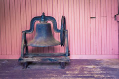Old school bell. Old retro school bell in a museum in prince Edward island Royalty Free Stock Image
