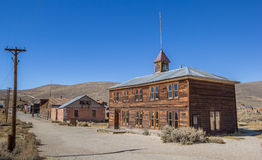 Old School in Bodie State Historic Park Stock Images