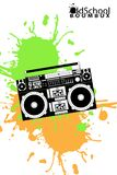 Old school boombox Stock Photography