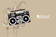 Old school boombox Royalty Free Stock Photo