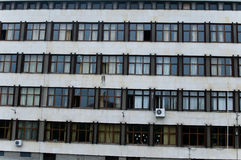 Old School Building and windows in sofia bulgaria Stock Image