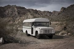 Old School Bus Royalty Free Stock Photos