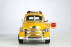 Old school bus. Old yellow toy school bus Royalty Free Stock Photo