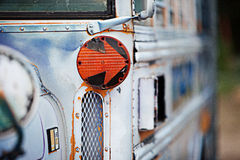Old School Bus. Close up detail of an old school bus Royalty Free Stock Photo