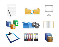Old school business concept icon set. Illustration design over a white background Royalty Free Stock Images
