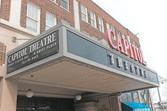 Old-school Capitol Theatre in Cleveland, Ohio, USA. The Capitol Theatre in Cleveland, Ohio, USA is an old-school movie theatre that has been savaged and restored Stock Photo