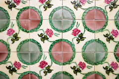 Old School Ceramic Tiles. Close-up on glazed old school ceramic tiles stock photos