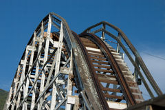 Old School Coaster Track Stock Images