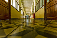 Old School Corridor Royalty Free Stock Photos