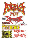 Old school death metal Royalty Free Stock Images