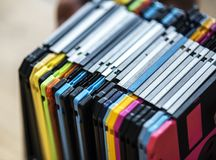 Old school floppy disk drive data storage Royalty Free Stock Photography