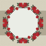 Old school frame with roses Stock Photography