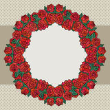 Old school frame with roses Royalty Free Stock Photos