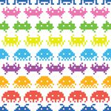 Old school game vector pattern Royalty Free Stock Photography