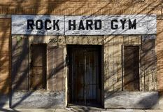 Old School Gym stock image