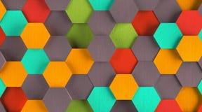 Old School Hexagon Background Stock Photography