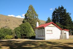 Old school house Kingston, New Zealand. This is the old school house in Kingston, Lake  Wakatipu New Zealand.  In the 1980s, the one room school house closed and Royalty Free Stock Images