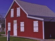 Old school house 3480 stock image